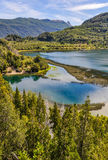 Lago赫嫩德斯, Alerces国家公园,阿根廷 库存照片