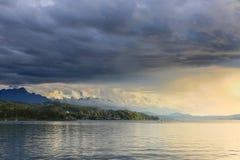 Lago Áustria Worthersee Foto de Stock Royalty Free