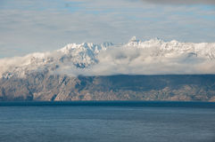 Lago στρατηγός Carrera, Carretera νότιο, εθνική οδός 7, Χιλή στοκ εικόνες