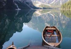 Lago делает Braies Стоковое Изображение