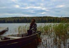 Lago foto de stock