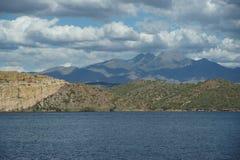 Lago 4 Saguaro foto de archivo