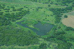 Lago aéreo Foto de Stock Royalty Free