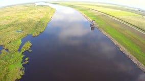 Lago aéreo Okeechobee almacen de metraje de vídeo