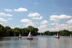 Lago Aasee en Munster, Alemania Fotos de archivo