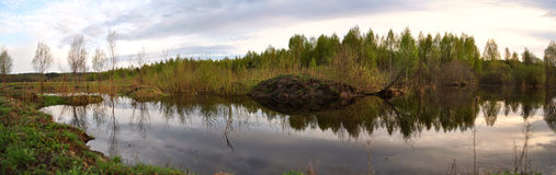 Lago abandonado Imagenes de archivo