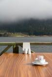 Lago Abant y tabla vacía Fotos de archivo