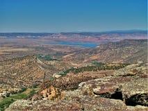 Lago Abiquiu da Santa Fe National Forest Fotografie Stock Libere da Diritti