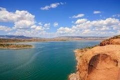 Lago Abiquiu em New mexico fotografia de stock