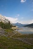 Lago Abraham - parque nacional del jaspe Fotografía de archivo libre de regalías