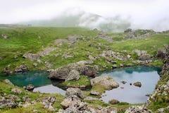 Lago Abudelauri en Khevsureti (Georgia) foto de archivo libre de regalías