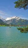 Lago Achensee, Tirol imagem de stock