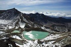 Lago acid da passagem de Tongariro Imagem de Stock Royalty Free