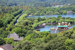 Lago ad ovest china Hangzhou Immagine Stock Libera da Diritti