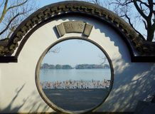 Lago ad ovest Hangzhou immagini stock libere da diritti
