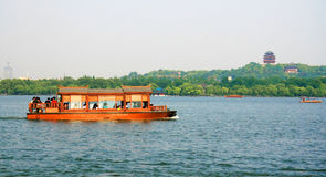 Lago ad ovest a Hangzhou Fotografia Stock