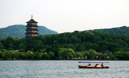 Lago ad ovest a Hangzhou Immagini Stock