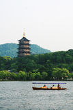 Lago ad ovest a Hangzhou Fotografie Stock Libere da Diritti