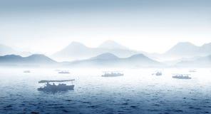Lago ad ovest Hangzhou in Cina Fotografie Stock