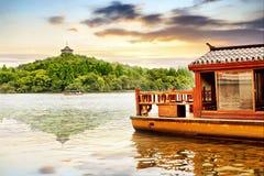 Lago ad ovest a Hangzhou, Cina Immagini Stock Libere da Diritti