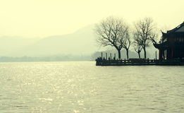 Lago ad ovest Hangzhou Cina Immagini Stock Libere da Diritti