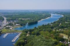 Lago Ada a Belgrado Immagini Stock