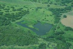 Lago aereo Fotografia Stock Libera da Diritti