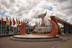 Lago Agrio är mitten av oljeproduktionen av Ecuador royaltyfri foto