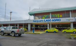 LAGO AGRIO, ECUADOR- NOVEMBER 16, 2016: Beautiful airport located in the city of Lago Agrio, where tourist arrived to. Travel and visit the Cuyabeno National Royalty Free Stock Photos
