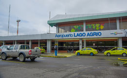 LAGO AGRIO, ECUADOR- NOVEMBER 16, 2016: Beautiful airport located in the city of Lago Agrio, where tourist arrived to Royalty Free Stock Image
