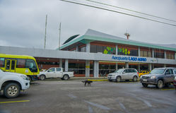LAGO AGRIO, ECUADOR- NOVEMBER 16, 2016: Beautiful airport located in the city of Lago Agrio, where tourist arrived to Stock Photography