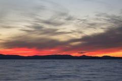 Lago al crepuscolo Fotografia Stock