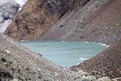 Lago al ghiacciaio Piedras Blancas nel parco nazionale di Los Glaciares, Argentina Immagini Stock