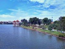 Lago al giardino cinese Immagine Stock