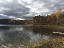 Lago al parco di stato di itasca Immagini Stock