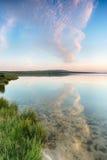 Lago al tramonto Fotografie Stock Libere da Diritti