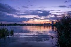 Lago al tramonto Immagine Stock Libera da Diritti