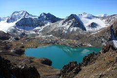 Lago ala-Kul, Kirghizistan Fotografia Stock Libera da Diritti