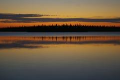 Lago alaranjado Fotografia de Stock