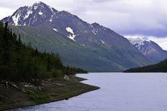 Lago Alaska Eklutna Foto de archivo libre de regalías