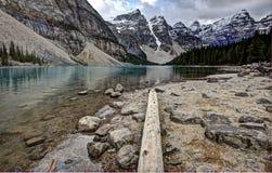 Lago Alberta Morraine Imagenes de archivo