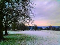 lago alemão no inverno imagens de stock