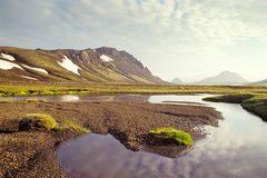 Lago Alftavatn, Islandia Fotos de archivo