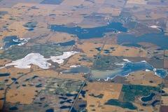 Lago alkali Fotografia Stock