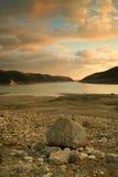 Lago alla diga di Kouris, Cipro Fotografie Stock
