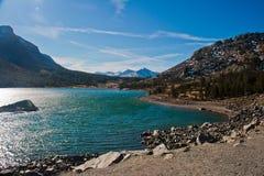 Lago alla sosta nazionale del Yosemite Fotografie Stock Libere da Diritti