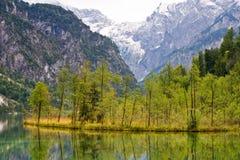 Lago Almsee, valle di Almtal, Austria Fotografie Stock Libere da Diritti