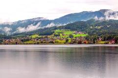 Lago Alpbach Fotografie Stock Libere da Diritti