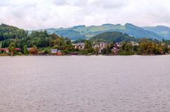 Lago Alpbach Immagine Stock