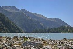Lago Alpe dei Cavalli in backlight Royalty Free Stock Image